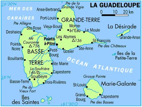 Les Antilles et la Guyane   Le site de l'association Frontenac